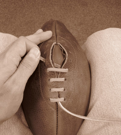 lacing a leather football how balls get made