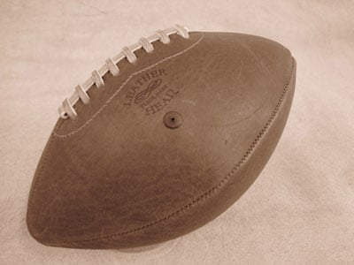 leatherhead homemade handmade leather football