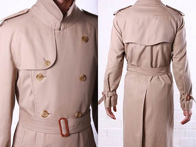 trench coat details storm flap khaki jacket