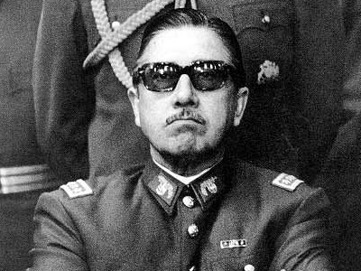 Augusto Pinochet military uniform sunglasses mustache
