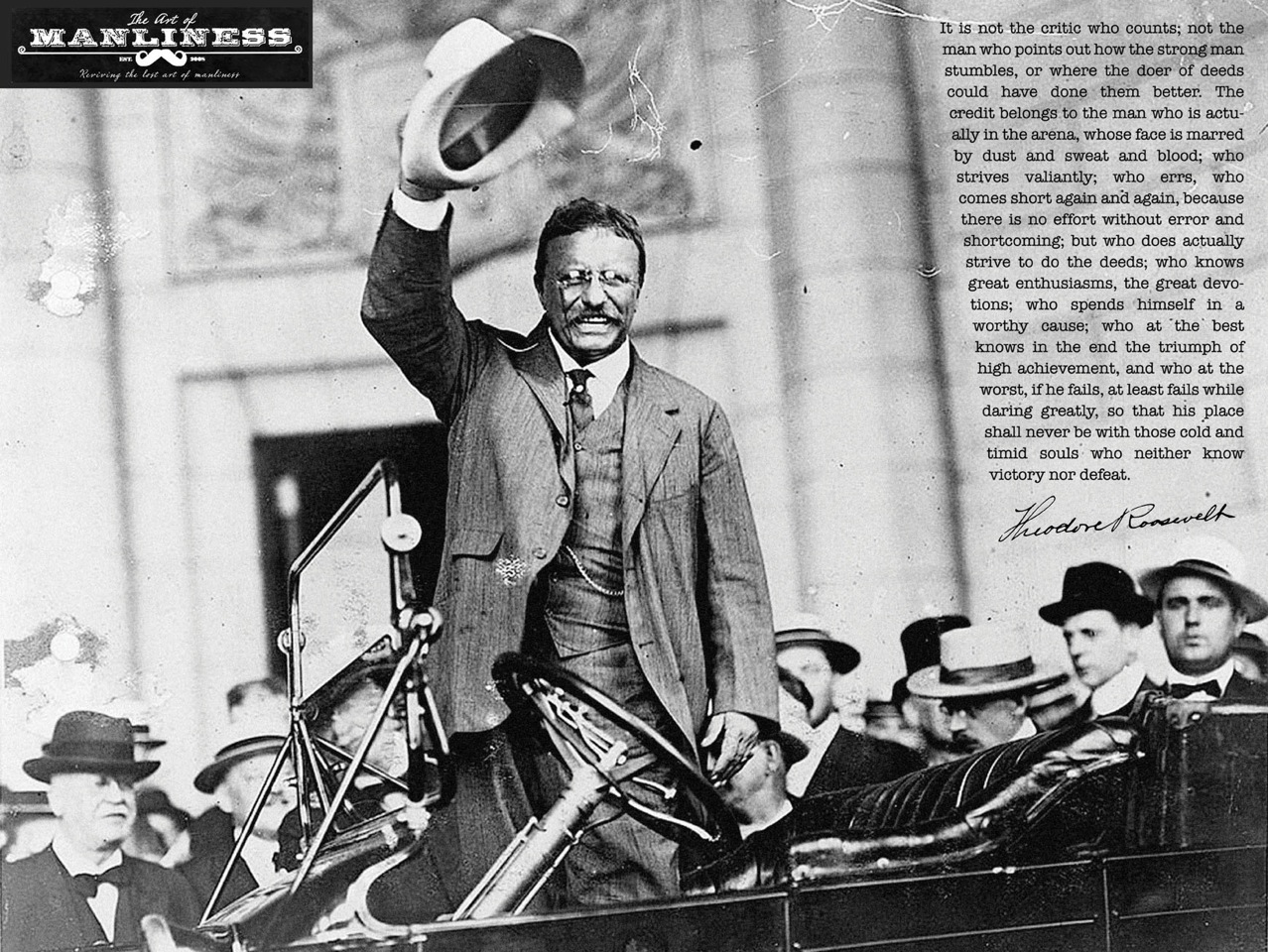 Whatever The Man In The Arena Theodore Roosevelt