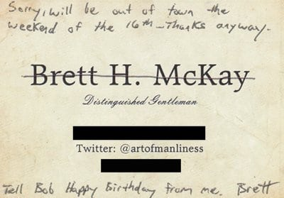 Calling card information being cut  down while writing.