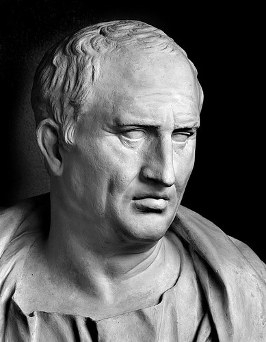 cicero bust marble statue older balding wrinkles