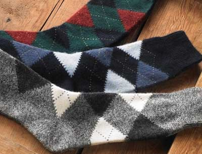 argyle socks patterns green black gray