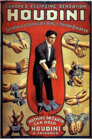 harry houdini poster handcuff king prison breaker