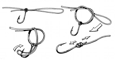 palomar fishing knot diagram illustration