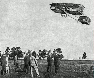 harry houdini pilot in biplane flight record