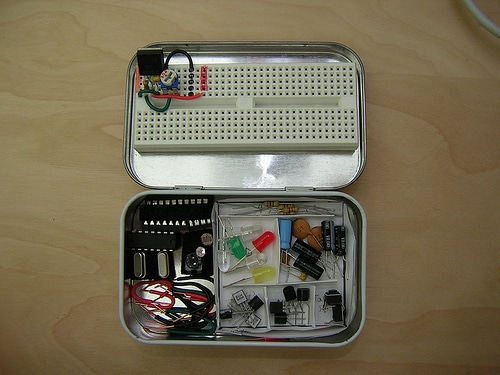 altoid tin recycled diy electronics kit