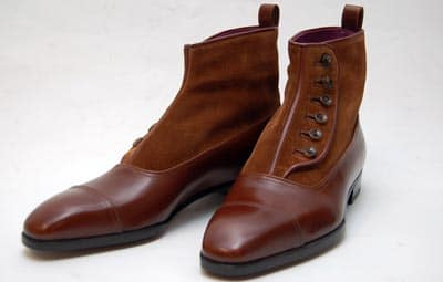 custom made button dress shoes boots