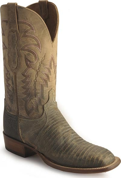 Lucchese Cowboy stonewashed lizard western boots