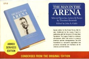 armed service edition books man in the arena TR