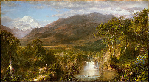 Heart of the andes painting by Frederic Edwin Church.