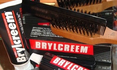 brylcreem tube with hair brush