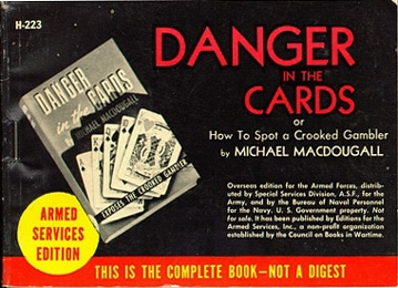 armed service edition books danger in the cards