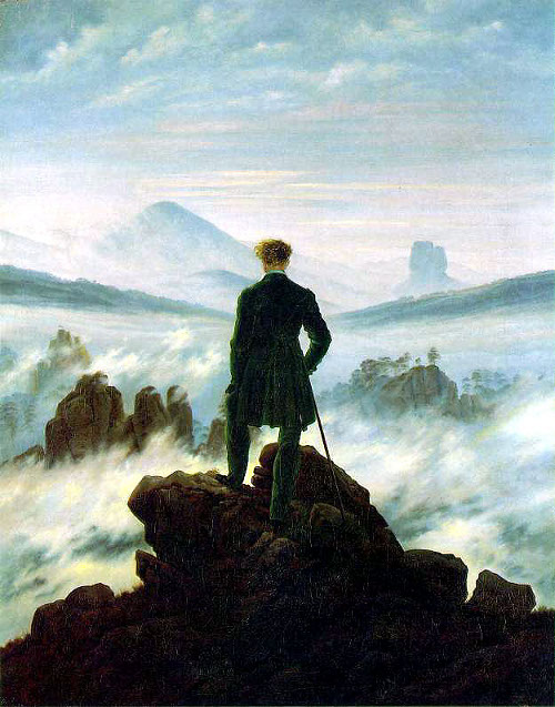 Wanderer Above the Sea of Fog, by Caspar David Friedrich, 1818