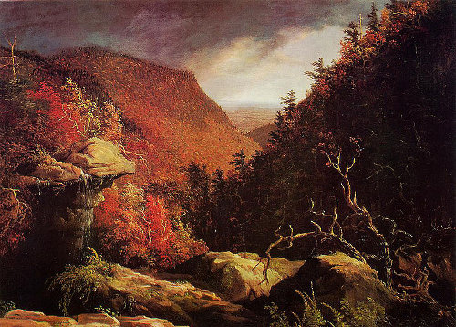 The clove catskills painting by Thomas Cole.