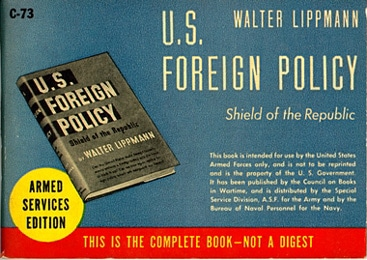 Book cover of US Foreign Policy by Walter Lippmann.