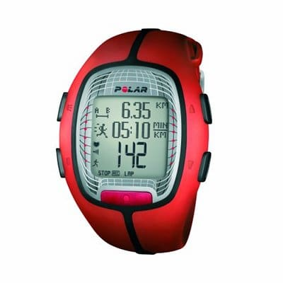 polar gps heart rate monitor red for working out