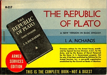 Book cover of the Republic of Plato by Richards.