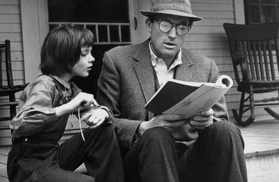 gregory peck atticus finch reading with scout