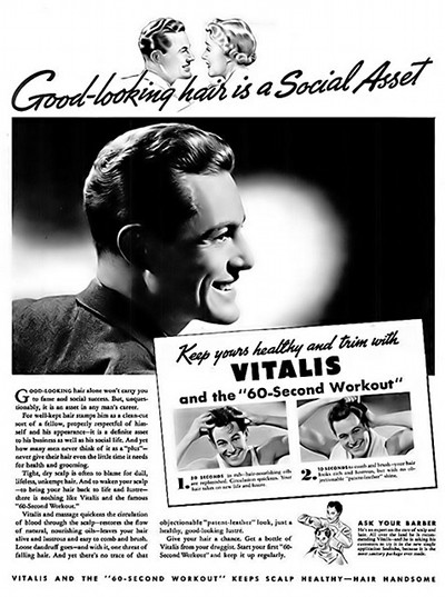 vitalis vintage hair ad advertisement