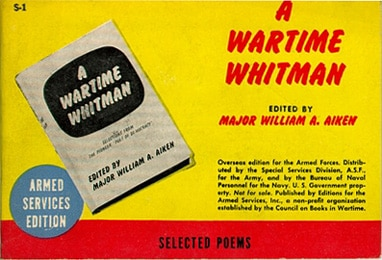 Book cover of a Wartime Whitman by William Aiken.