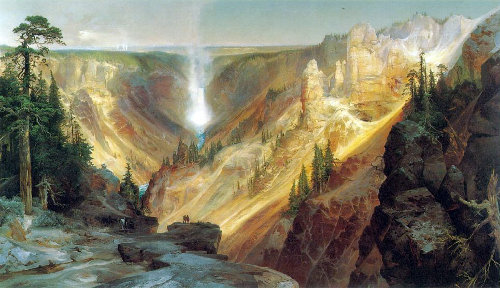 Grand Canyon of the Yellowstone, Thomas Moran, 1827