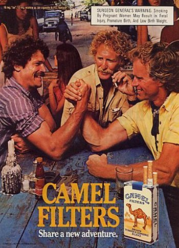 Camel cigarettes vintage advertisement.