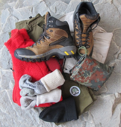 bug out bag supplies shelter clothing boots socks