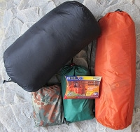 bug out bag supplies sleeping bag tent