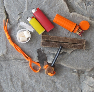bug out bag supplies fire making flint lighter matches