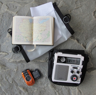 bug out bag supplies communications map radio