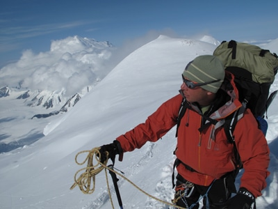 eric larson mountaineer arctic explorer on mountain peak