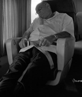 lyndon b johnson president naps in chair air force one