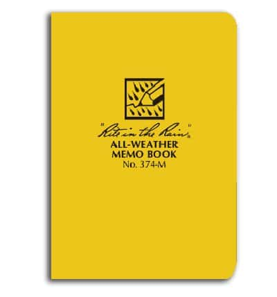 rite in the rain all weather notebook memo book
