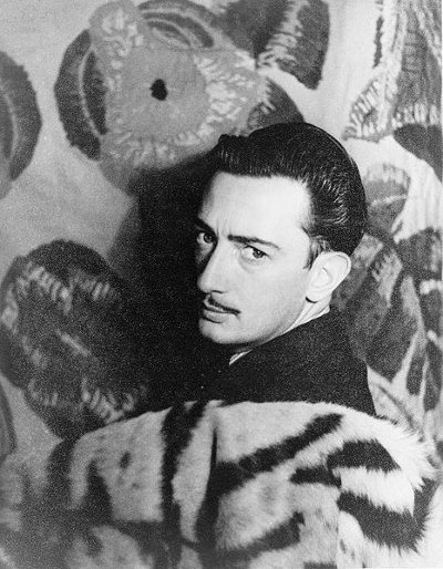 salvador dali portrait tiger skin fur