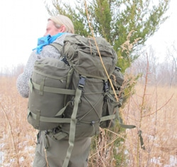 creek stewart bug out bag snug pack rear view