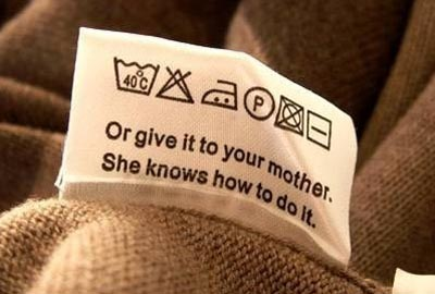laundry tag call mother