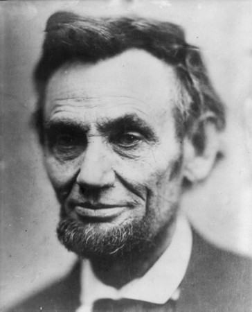 abraham lincoln portrait blurry edges beard wrinkled