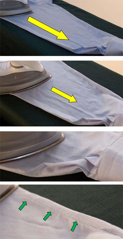 how to iron dress shirt sleeves