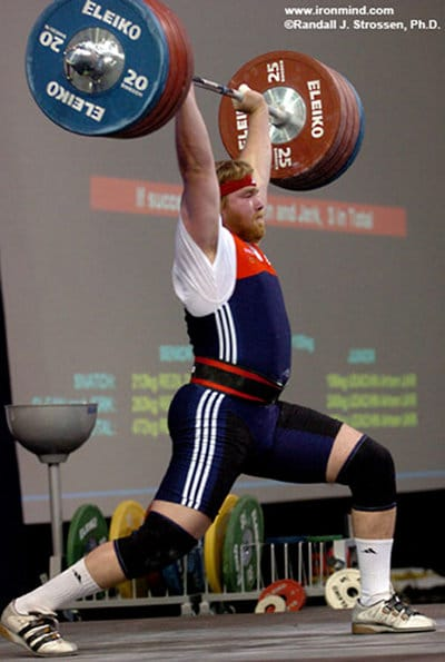 Casey Burgener professional weightlifter competition jerk.