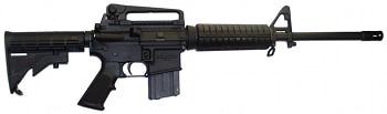 Automatic AR 15 rifle illustration.