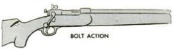 Bolt action rifle illustration.