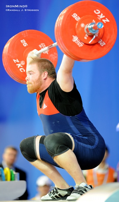 Casey Burgener weightlifting in competition olympic hopeful