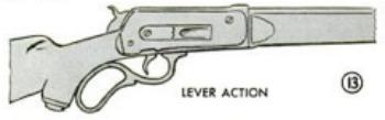 Lever action rifle illustration.