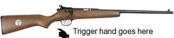 Rifle without pistol grip illustration.