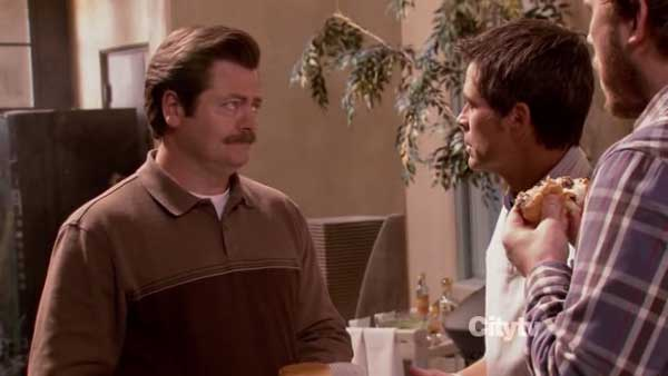 ron swanson chris treager burger contest parks and rec