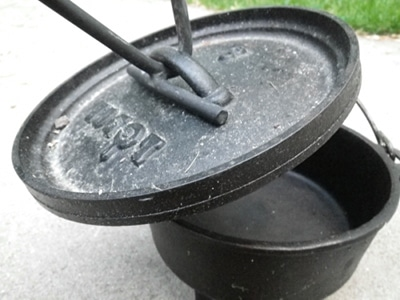 dutch over lid lifter for outdoor cooking camping