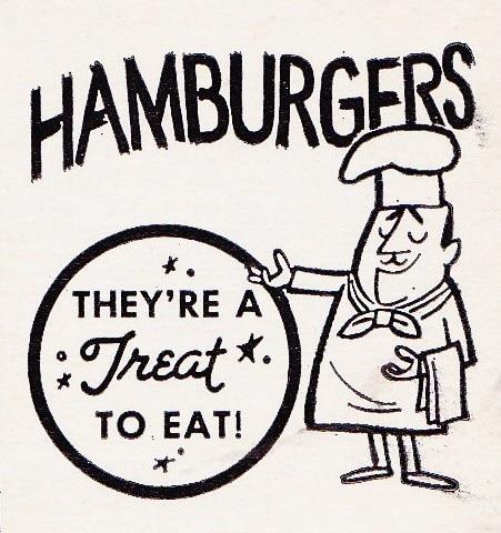 vintage hamburger ad advertisement treat to eat