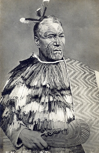 native american man war dress tattoos on face